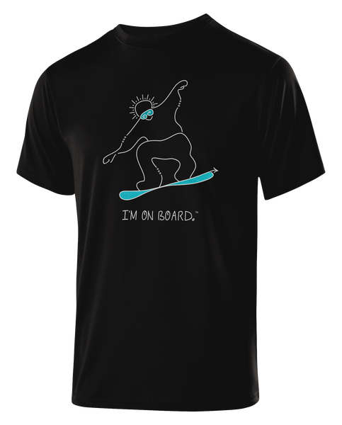 I'm on Board™ Snowboard - Men's Athletic Tee