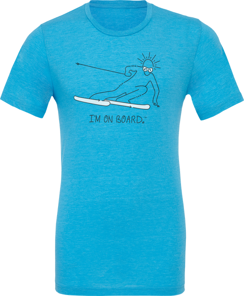 I'm on Board™ Skier - Unisex Triblend Tee