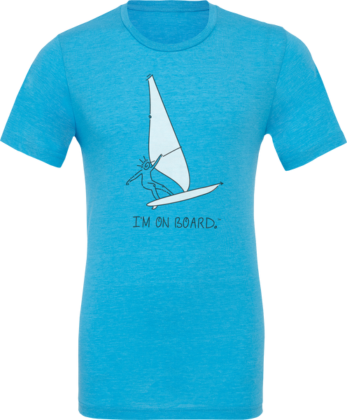 I'm on Board™ Wind Surfing - Unisex Triblend Tee