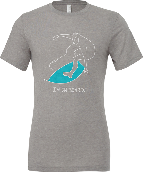 I'm on Board™ Skimboard - Unisex Triblend Tee