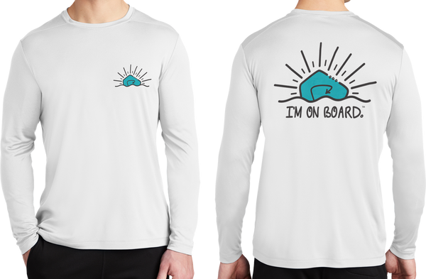 I'm on Board™ Logo - Unisex Pro Long Sleeve Tee
