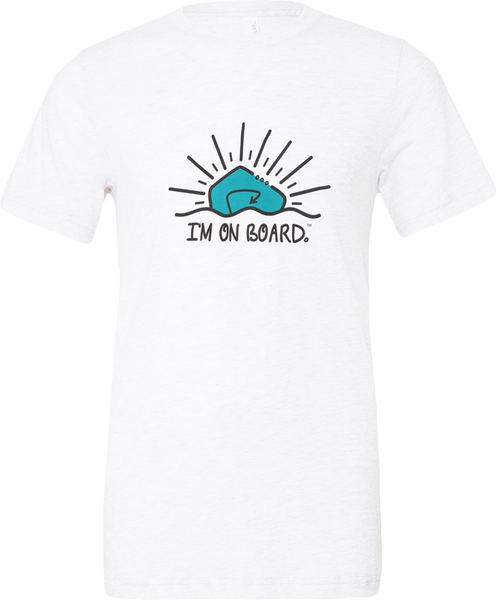 I'm on Board™ Logo - Unisex Triblend Tee