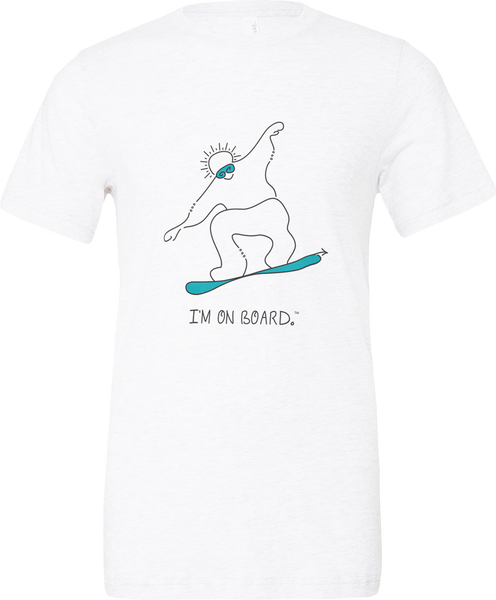 I'm on Board™ Snowboard - Unisex Triblend Tee