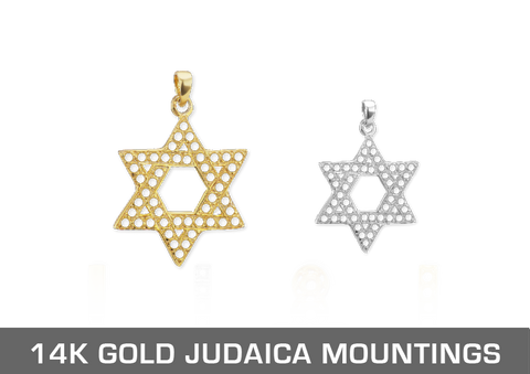 14K Gold Judaica Mountings