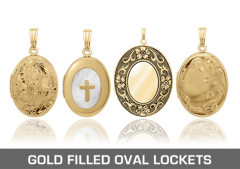 Gold Filled Oval Lockets