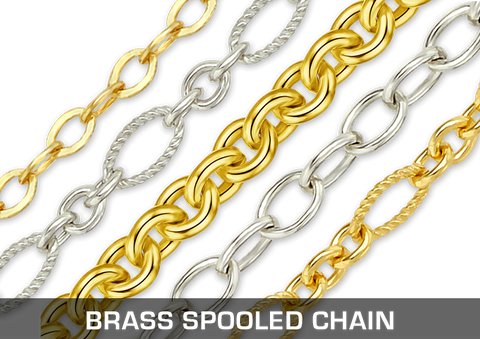 Brass Spooled Chain