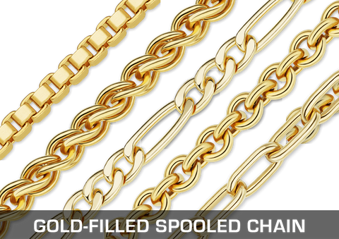 Gold-Filled Spooled Chains