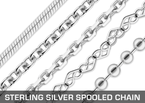 Sterling Silver Spooled Chain