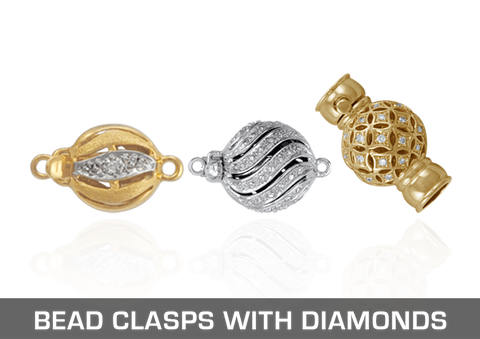 Bead Clasps with Accent Diamonds