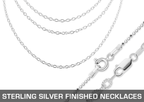 Sterling Silver Finished Necklaces