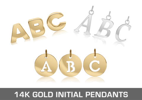14K Gold Initials & Numbers