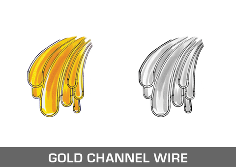 Gold Channel Wire