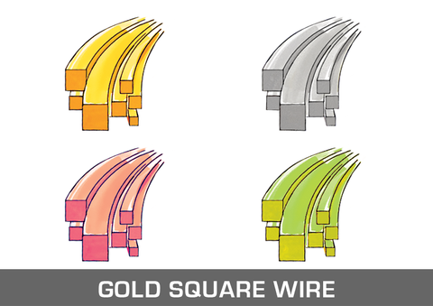Gold Square Wire