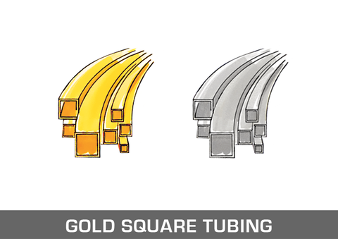 Gold Square Tubing