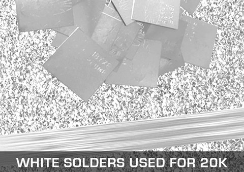 White Solders Used For 20K