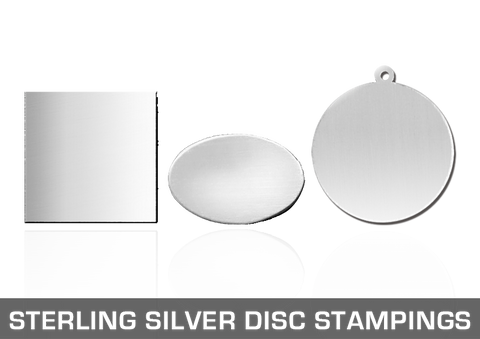Sterling Silver Disc Stampings