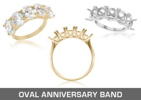 Oval Anniversary Band