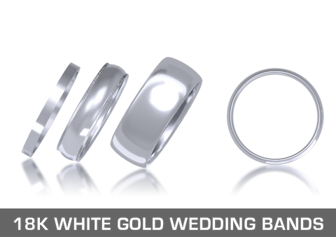 18K White Gold Wedding Bands