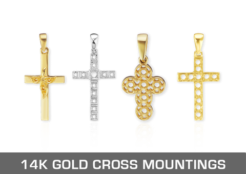 14K Gold Christian Mountings