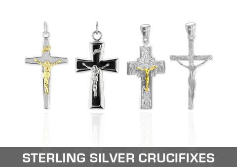 Sterling Silver Christian Crucifixes
