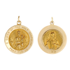 14K Gold Round Queen of the Holy Scapular Medallion