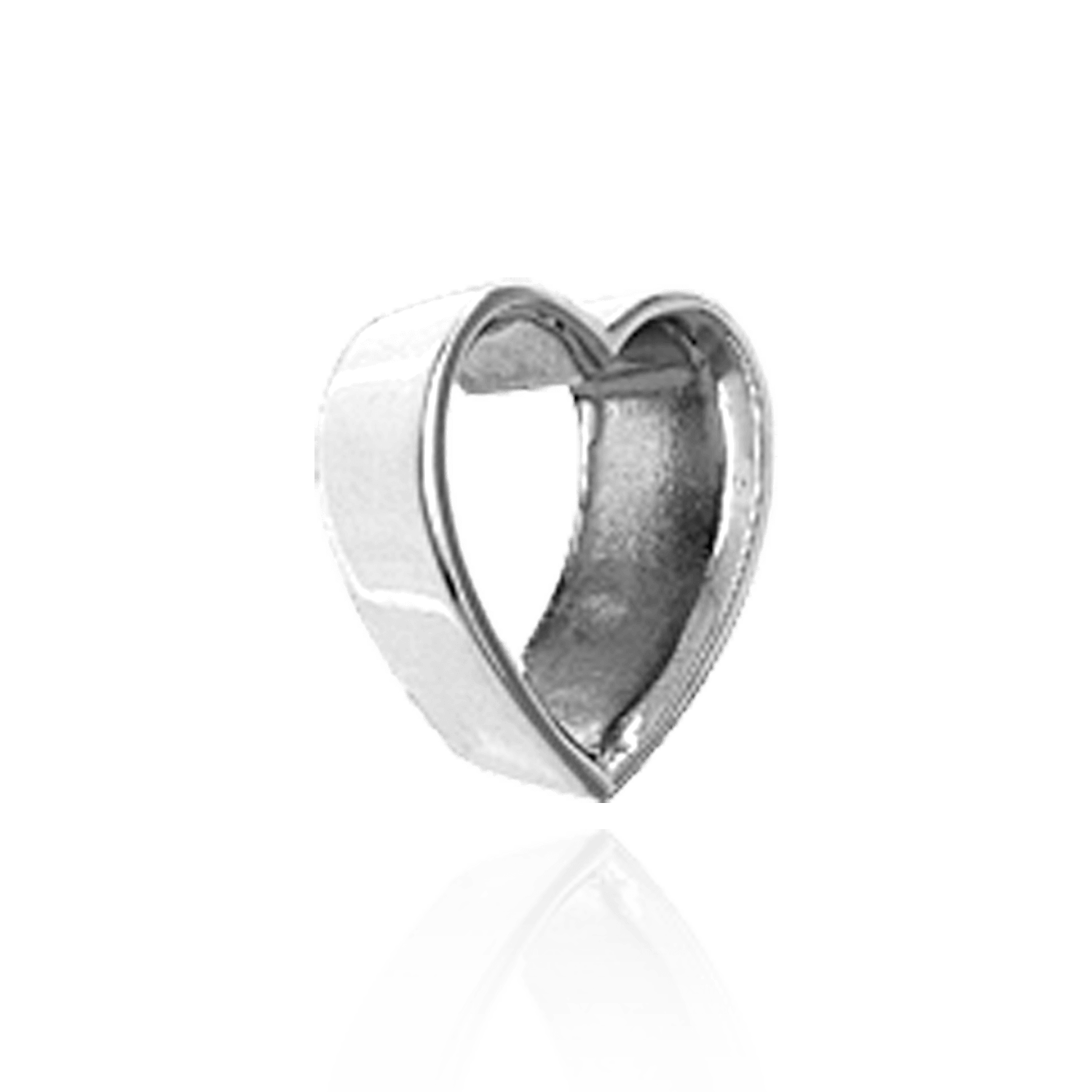 Heart Shape Tapered Bezels in Sterling Silver (3.5 x 3.0 mm - 12.5 x 11.0 mm)