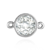 Round Tapered Bezel with Rings in Sterling Silver (0.05 ct - 1.0 ct)