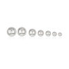 Plain Two Hole Heavy Round Beads (3mm-8mm)