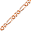 Finished Classic Figaro Chain in Pink Gold (1.5mm-6.75mm)