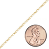 Spooled Classic Figaro Chain in Gold-Filled (1.6mm-5.0mm)