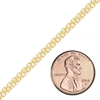 Bulk / Spooled Double Bizmark Chain in 14K Yellow Gold (2.3 mm - 4.6 mm)