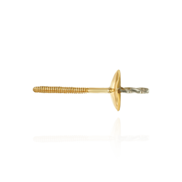 14K Gold Pearl Cup Earrings with Peg