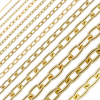 Bulk / Spooled Elongated Cable Chain in Yellow Gold (0.75 mm - 5.9 mm)