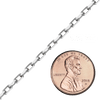 Spooled Elongated Diamond Cut Cable Chain in White Gold (1.0 mm - 3.3 mm)