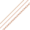 Bulk / Spooled Elongated Diamond Cut Cable Chain in 14K Pink Gold (1.0 mm - 1.95 mm)