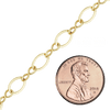Bulk / Spooled Figure Eight Chain in Gold-Filled (2.3 mm - 5.5 mm)