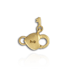 Heart Lock and Key Trigger Clasps (7.3 x 10.3 mm)