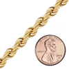 Handmade Solid Rope Chain in Gold (4.2mm-6.3mm) - Rope Chain (Gold) Collection by Ross Metals
