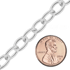 Bulk / Spooled Light Round Cable Chain in Sterling Silver (1.3 mm - 7.3 mm)