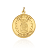 Saint Christopher Military Medallion (Air Force) - Gold Medallions Collection by Ross Metals
