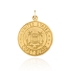14K Gold Round Saint Christopher Military Medallion (Coast Guard) (3/4 inch)