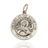 Sterling Silver Round Our Lady of Assumption Medallion (5/8 inch - 3/4 inch)