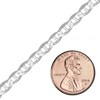 Bulk / Spooled Mariner Curb Chain in Sterling Silver (2.3 mm - 7.8 mm)