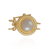 Round Pearl Clasp with Cultured Pearl and Safety Lock (11mm)