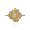 Flower Pearl Clasp with Cultured Pearl and Safety Lock (10mm)