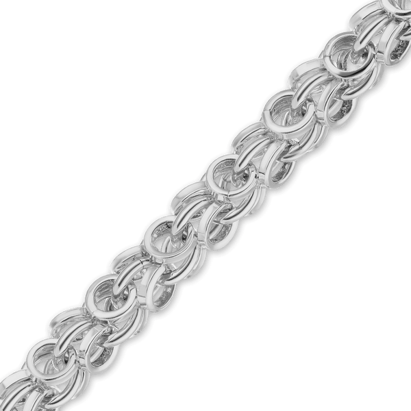 Finished Handmade Ring Ring Chain in Sterling Silver (5.0mm) - Handmade Chain (Sterling Silver) Collection by Ross Metals