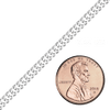 Spooled Rambo Chain in Sterling Silver (2.1mm - 4.6mm)