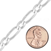 Bulk / Spooled Single Figaro Chain in Sterling Silver (1.2 mm - 6.8 mm)