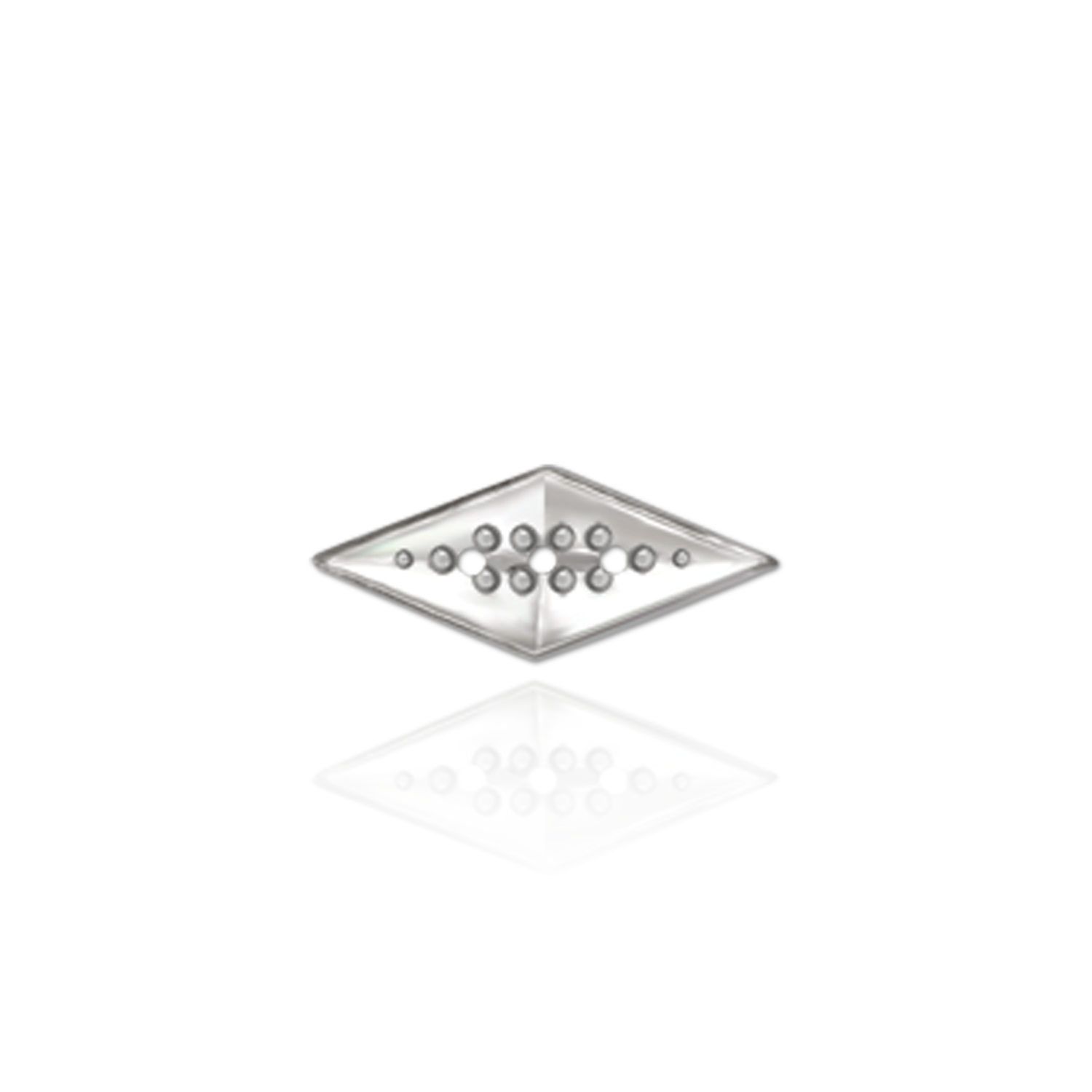RossMetals.com: 14K Diamond Shape Trim (Die-Struck) (.02ct)