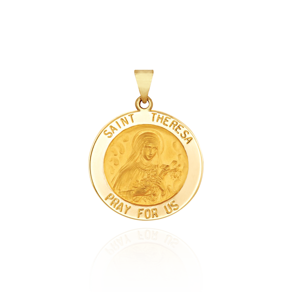 Saint Theresa Medallion - Gold Medallions Collection by Ross Metals